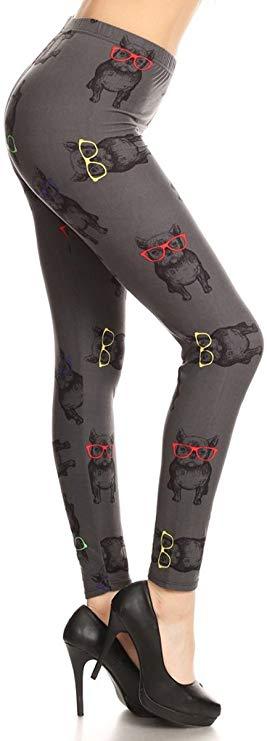 Frenchie Print Designer Leggings