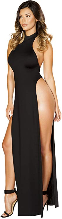 Side Open Slit Legs Dress