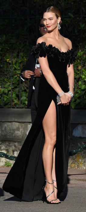 Bridal Off Shoulder Long Black Dress With Slit