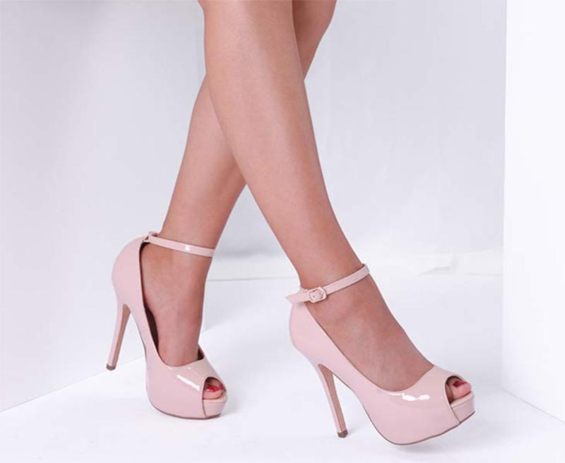 Dream Pairs Pink Swan 10 High Heel Plaform Pump Shoes
