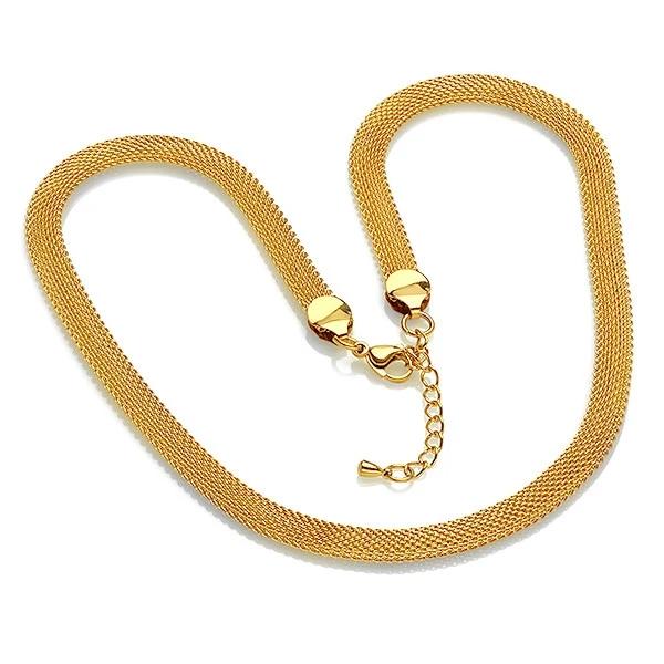 Steeltime Gold Mesh Necklace